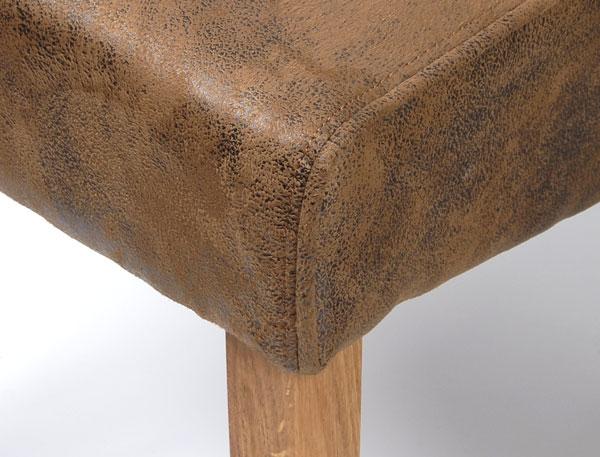 2x esszimmerst hle microfaser wildlederoptik eiche 5539 antik braun ebay. Black Bedroom Furniture Sets. Home Design Ideas