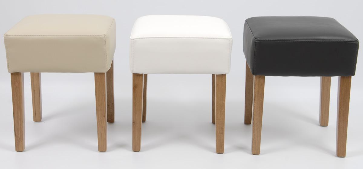 hocker kunstleder eiche massiv lackiert 5450 farbwahl ebay. Black Bedroom Furniture Sets. Home Design Ideas