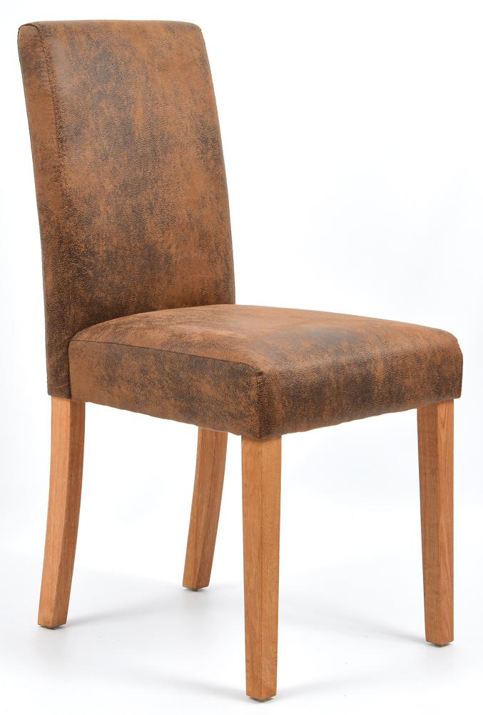 2x esszimmerst hle microfaser wildlederoptik eiche 5740 antik braun ebay. Black Bedroom Furniture Sets. Home Design Ideas